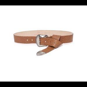 B-low The Belt Brown Taos Belt w/ silver hardware